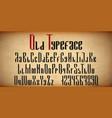 english geometric font alphabet uppercase vector image
