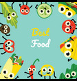 fast food and vegetables vector image vector image