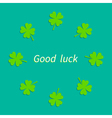 four leaf clover round frame good luck flat design vector image