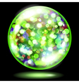 Glass sphere with glowing sparkles vector image