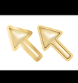 Golden cursors vector image