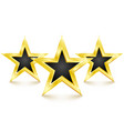 golden star on white background vector image vector image