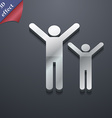 happy family icon symbol 3D style Trendy modern vector image vector image