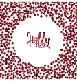 Holly card vector image