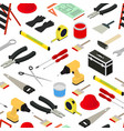 home repair background pattern isometric view vector image