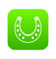 horseshoe icon digital green vector image vector image