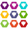 human bladder icons set 9 vector image
