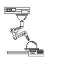 industrial robot hand engineering equipment image vector image vector image