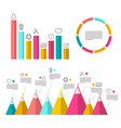 infographic elements with graphs flat design vector image vector image