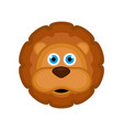 isolated cute lion avatar vector image vector image