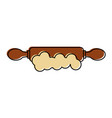 kitchen wooden roller icon vector image vector image