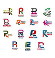 letter r abstract business identity vector image