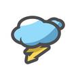 lightning bolt storm sky icon cartoon vector image