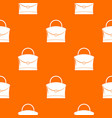 little woman bag pattern seamless vector image vector image