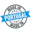 made in Portugal blue round vintage stamp vector image vector image
