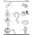 match objects educational coloring book vector image vector image