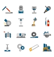 Metal-working Icon Flat vector image