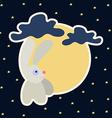 Moon rabbit of Mid Autumn Festival Chuseok vector image vector image