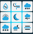 nature colored icons set collection of snowfall vector image vector image