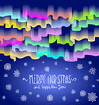 Northern lights Abstract background merry vector image vector image
