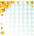 oktoberfest background with orange maple leaves vector image