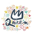 Print t-shirt for the queen vector image vector image