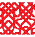 Red interwoven ribbons Seamless pattern vector image vector image