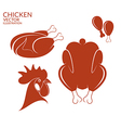 Roasted chicken Isolated meat on white vector image vector image