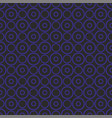 seamless dark pattern with blue dots on black back vector image