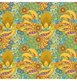 Seamless pattern of abstract flowers and paisley vector image vector image