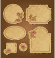 Set of retro floral vintage frames and labels vector image vector image