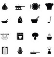 soup icon set vector image