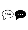 speech bubble line and glyph icon message vector image