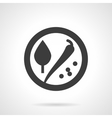 Spicy store glyph style icon vector image vector image