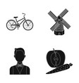sports travel and other web icon in black style vector image vector image
