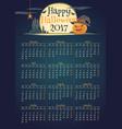 stylish halloween calendar for year 2017 vector image