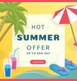 summer sale social media banner template tropical vector image vector image