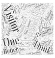 The Key to Better Websites A Navigation Word Cloud vector image vector image