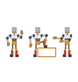 Three funky robots vector | Price: 1 Credit (USD $1)