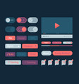ui kit web themes icon buttons bar menu search vector image vector image