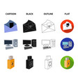 virus monitor display screen hackers and vector image