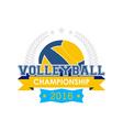 Volleyball championship emblem vector image vector image