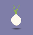 White onion with fresh green sprout vector image