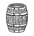 wooden barrel isolated on white design element vector image vector image