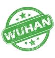Wuhan green stamp vector image vector image