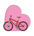 bicycle vehicle with heart vector image
