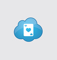 Blue poker icon vector image