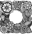 Ethnic floral zentangle vector image