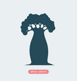 baobab tree vector image