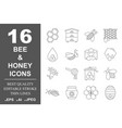 beekeeping and honey line icons set honey vector image